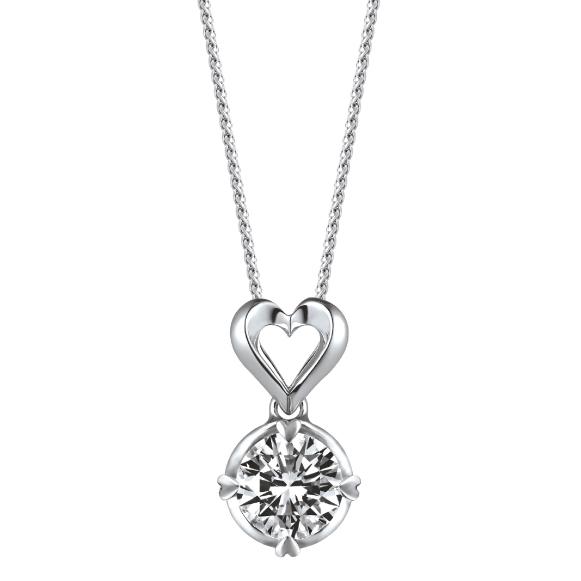 爱很美系列18K金钻石吊坠