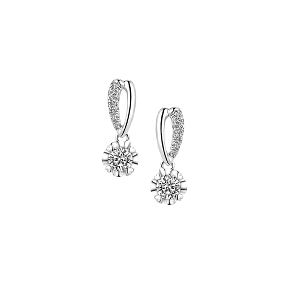 Love is Beauty Collection 18K Gold Diamond Earrings