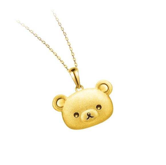 轻松小熊™系列黄金立体吊坠
