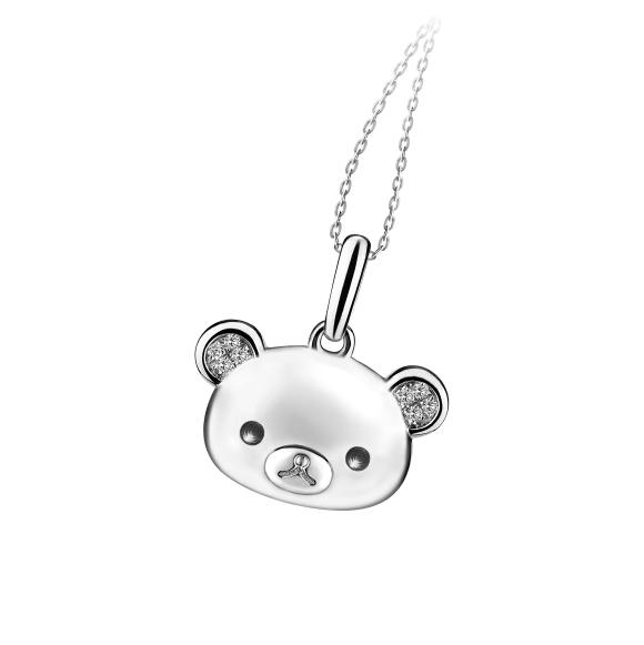 轻松小熊™系列18K金钻石吊坠