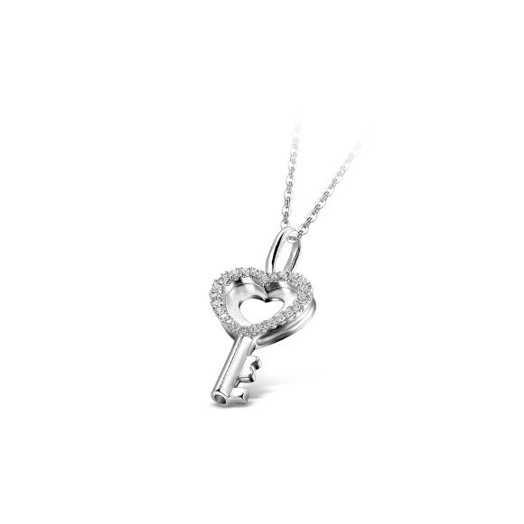 愛恆久系列18K金鑽石吊墜(女裝)