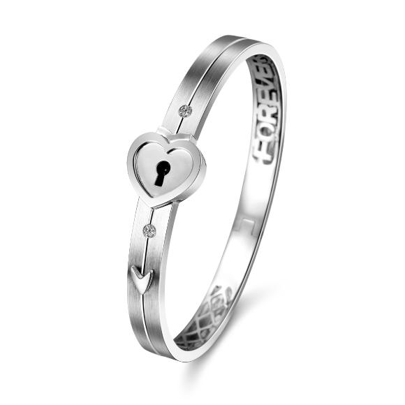 愛恆久系列18K金鑽石手鐲(女裝)