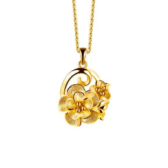 花团锦簇黄金坠饰