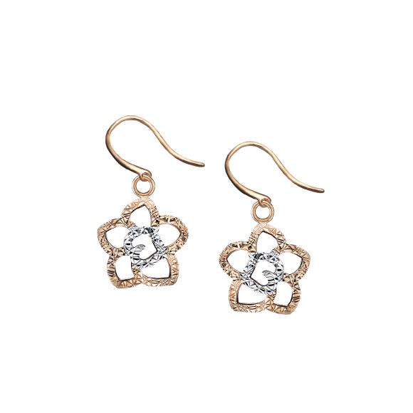 "18K Gold ""Floral Delight"" Earrings"