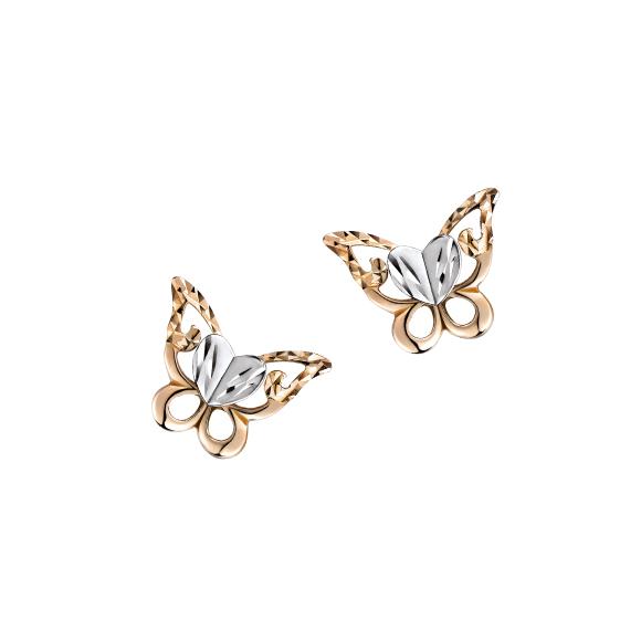 """18K Gold """"Butterfly Wonderland"""" Earrings"""