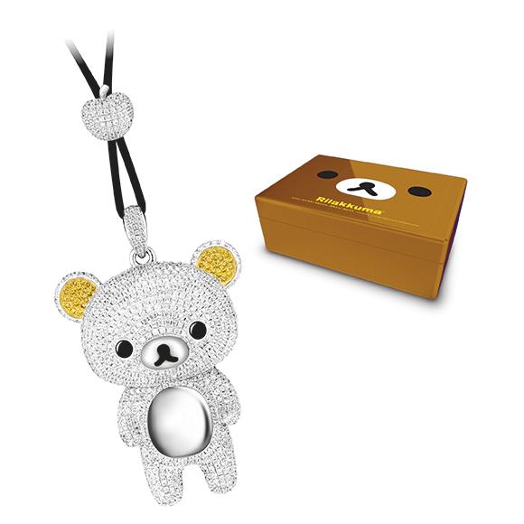 轻松小熊™系列限量版豪华18K金钻石吊坠礼盒
