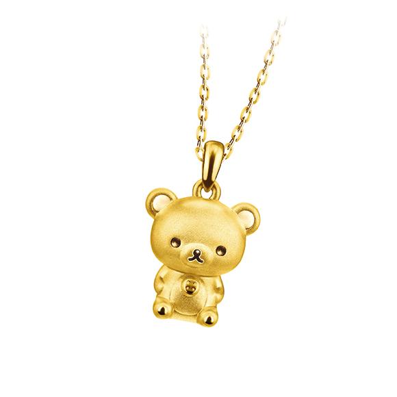 轻松小熊™系列小白熊黄金吊坠