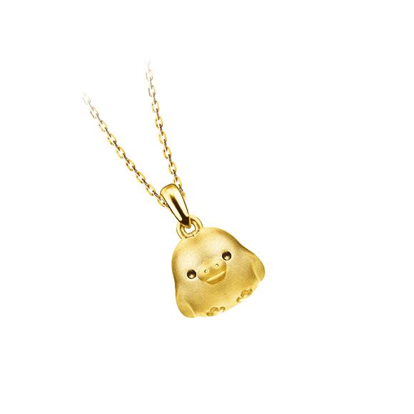 轻松小熊™系列小鸡黄金吊坠