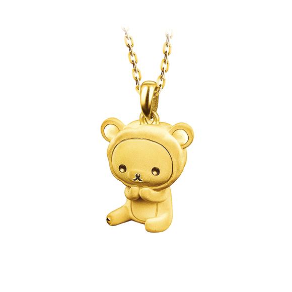 轻松小熊™系列绵羊造型黄金吊坠