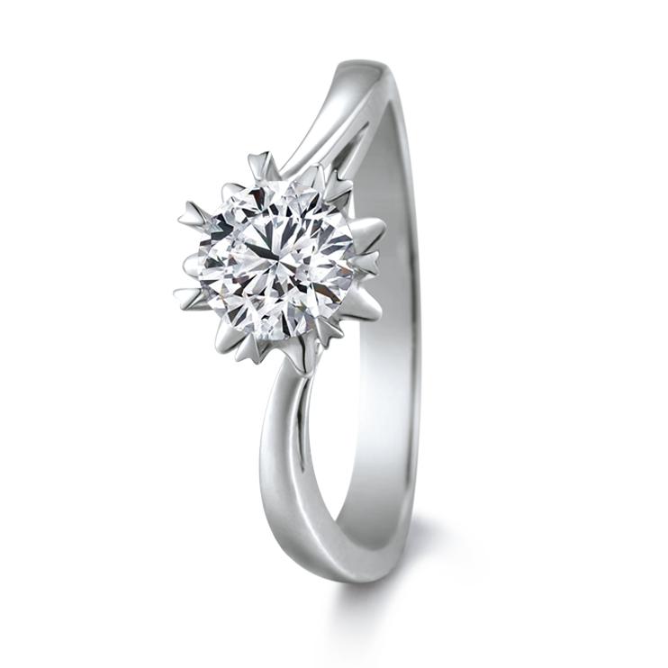 愛很美系列18K金鑽石戒指