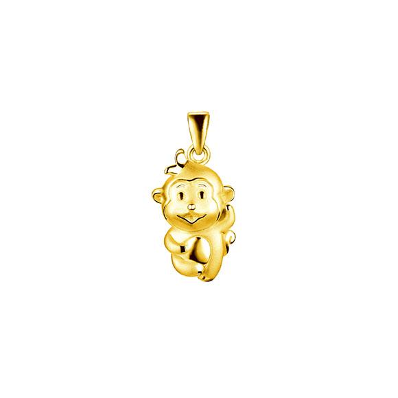 黄金十二生肖吊坠-猴