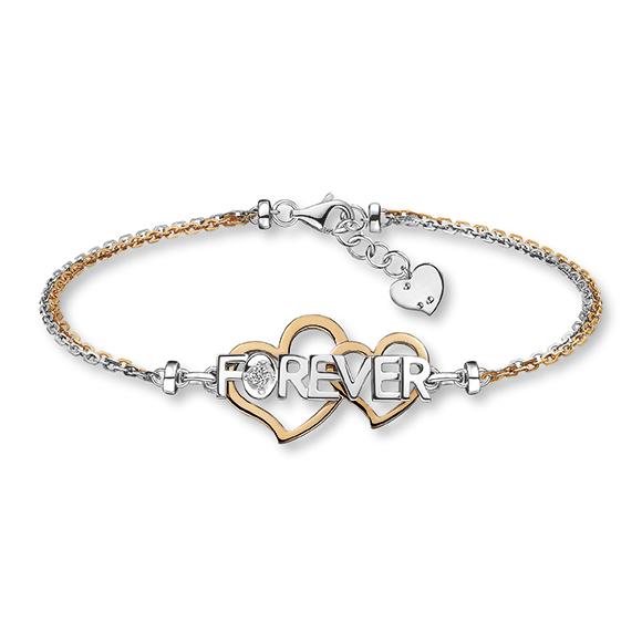 愛恆久系列18K玫瑰色黃金鑽石手鏈