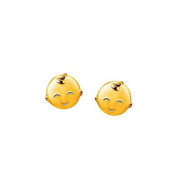Hugging Family Gold Earrings-Ka-ka