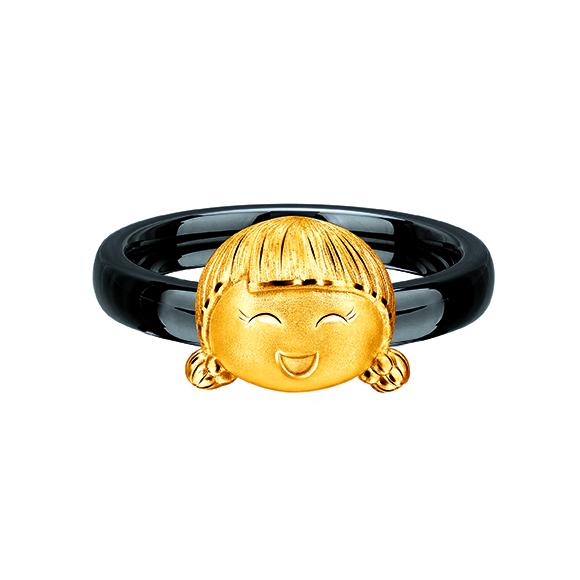 Hugging Family Gold Ring –Ting-ting