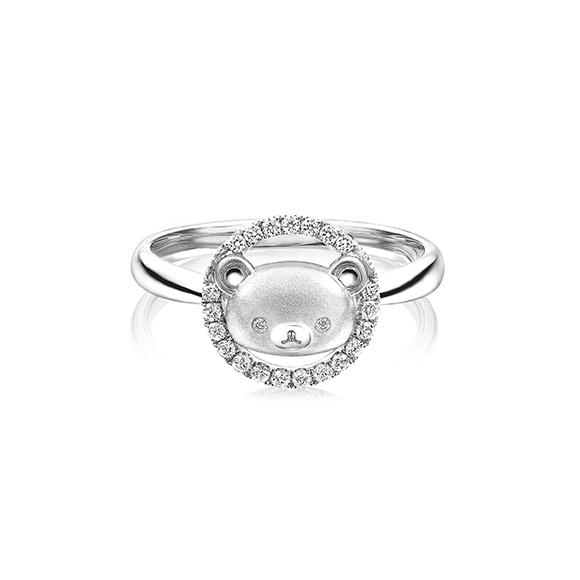 Rilakkuma™ Collection 18K White Gold Diamond Ring