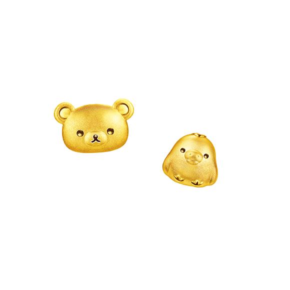 Rilakkuma™ Collection Gold Earrings