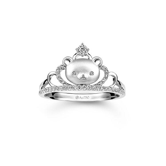 轻松小熊™系列18K白色黄金钻石皇冠戒指