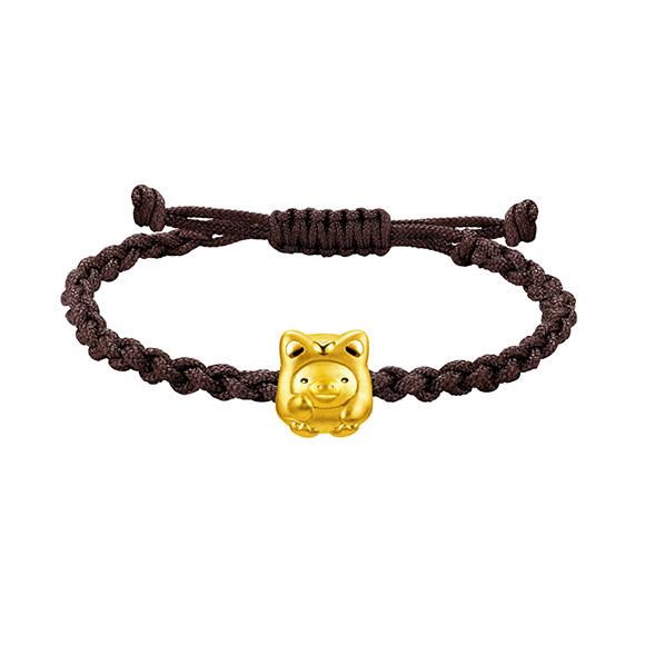 Rilakkuma™ Collection Kiiroitori Gold Charm Bracelet in Fortune Style