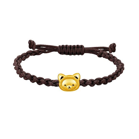 Rilakkuma™ Collection Korilakkuma Gold Charm Bracelet in Fortune Style