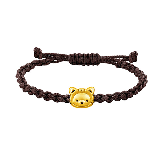 Rilakkuma™ Collection Gold Charm Bracelet in Fortune Style