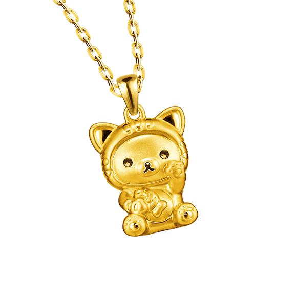 轻松小熊™系列招财造型黄金吊坠