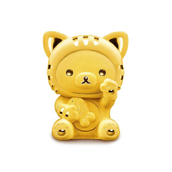 Rilakkuma™ Collection Gold Figurine in Fortune Style