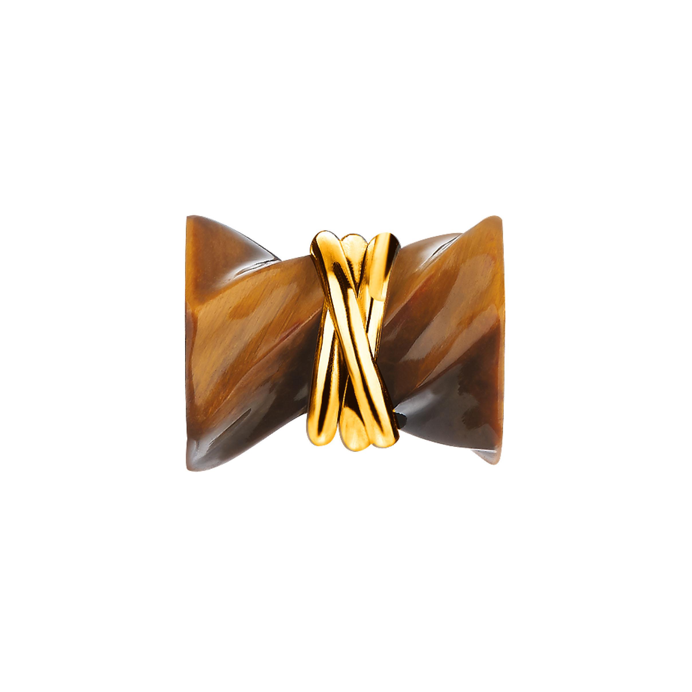 「六福齐来」黄金衬半宝石坠饰-健康