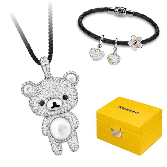 轻松小熊™系列别注版18K金钻石吊坠及配饰礼盒