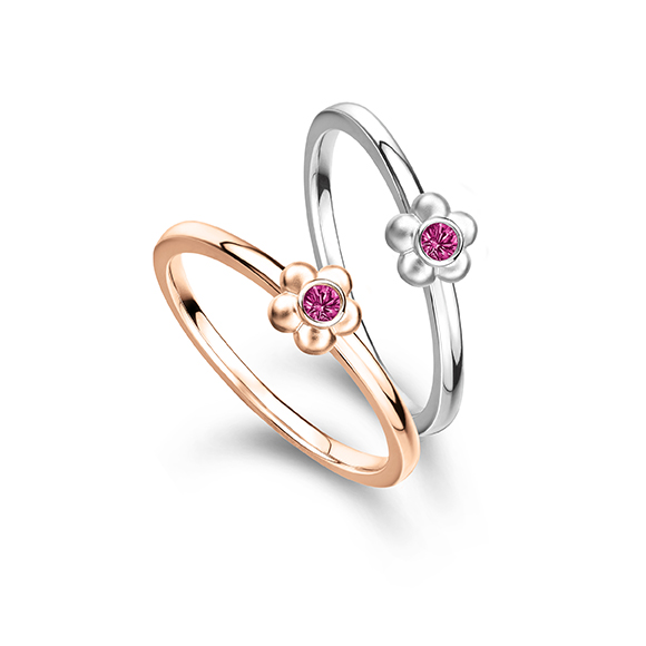 Rilakkuma™ Collection Floral 18K Gold Ring with Ruby