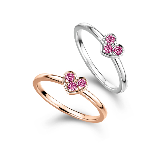 Rilakkuma™ Collection Heart 18K Gold Ring with Ruby