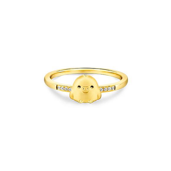 轻松小熊™系列小鸡18K金(黄色)钻石戒指