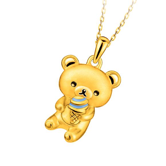 轻松小熊™系列轻松小熊™衬雪糕足金珐琅吊坠