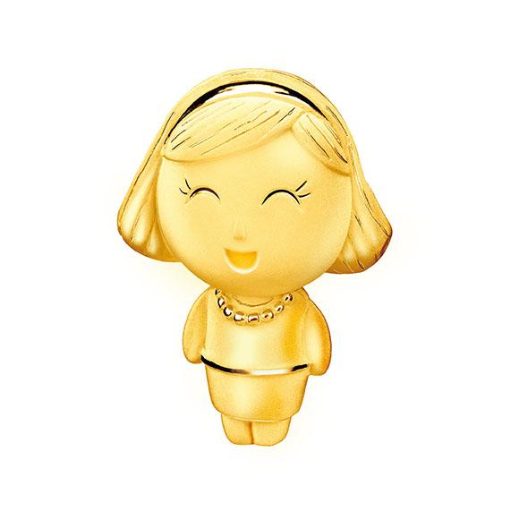 抱抱家庭系列妈妈Lucy (露西) 足金立体摆件