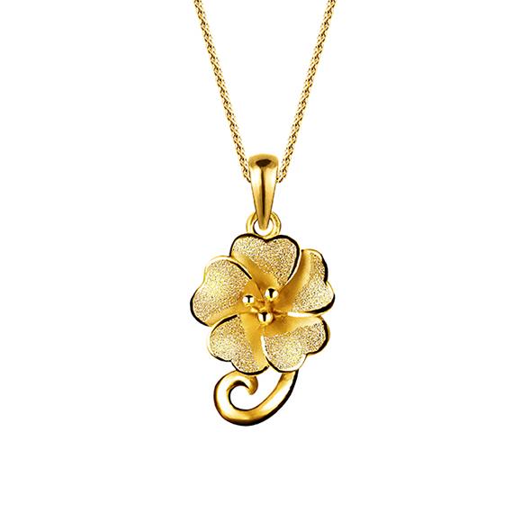 花朵足金挂坠