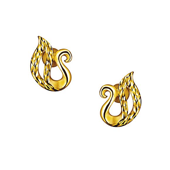 Swan Gold Earrings