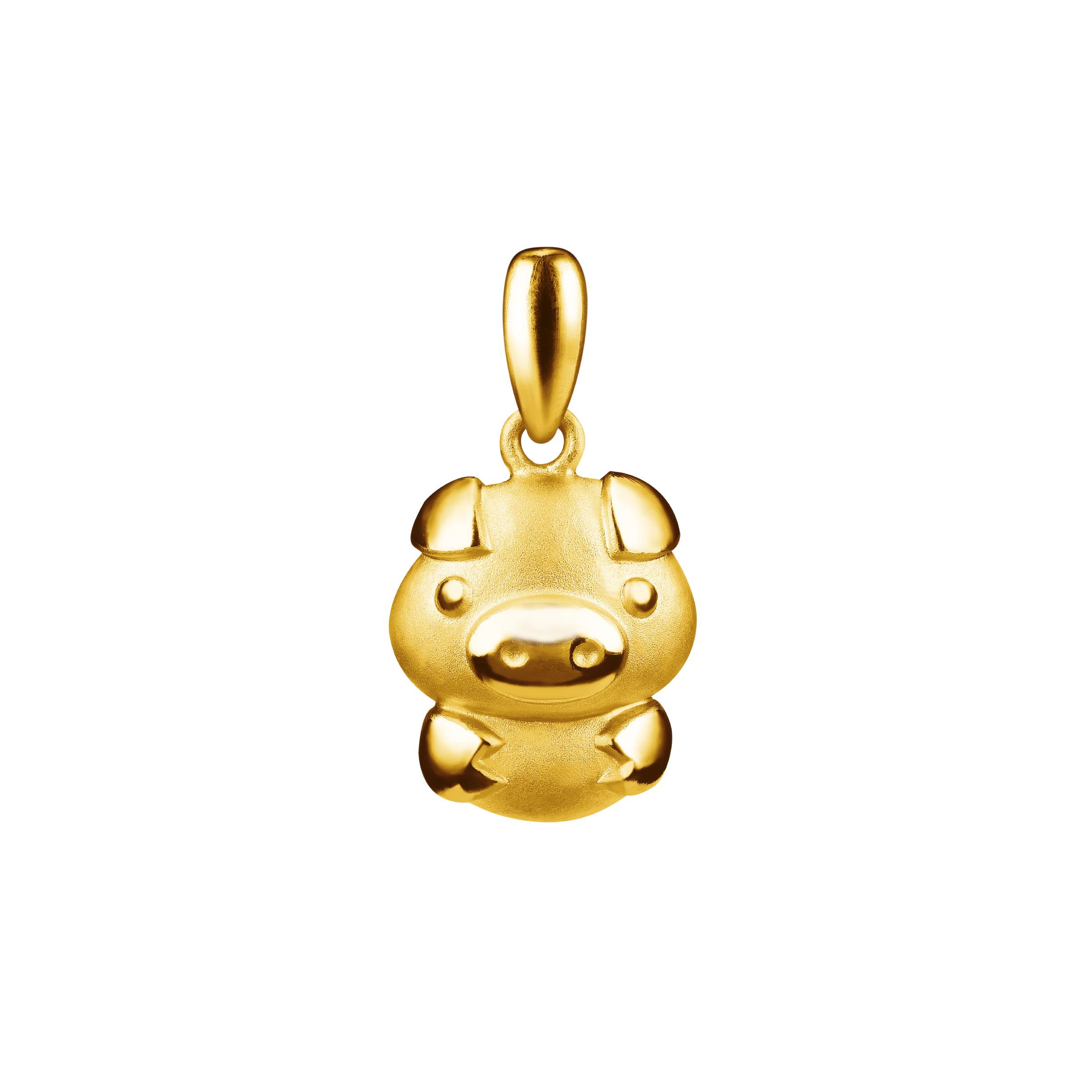 12 Chinese Zodiac Gold Pendant-Pig