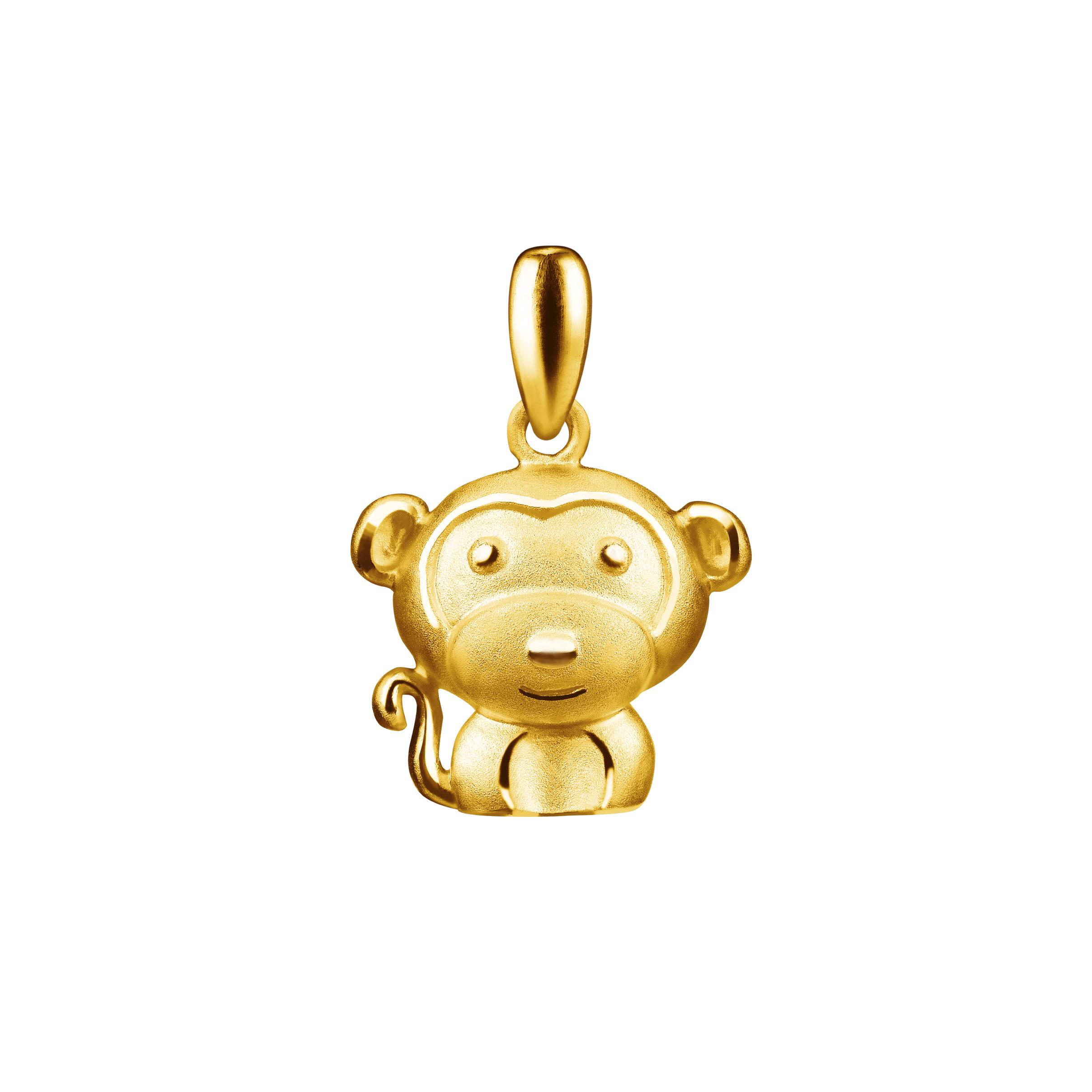 12 Chinese Zodiac Gold Pendant -Monkey