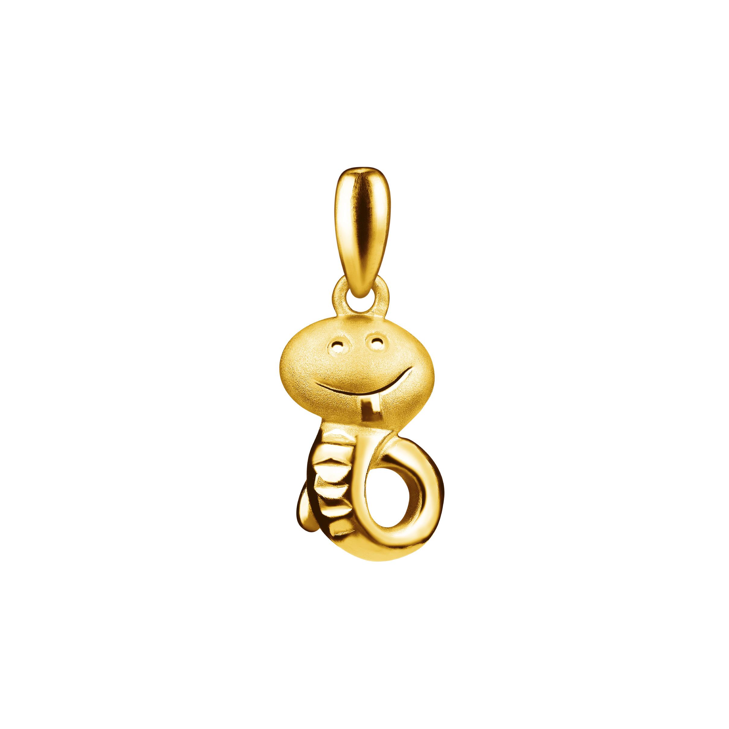 12 Chinese Zodiac Gold Pendant -Snake