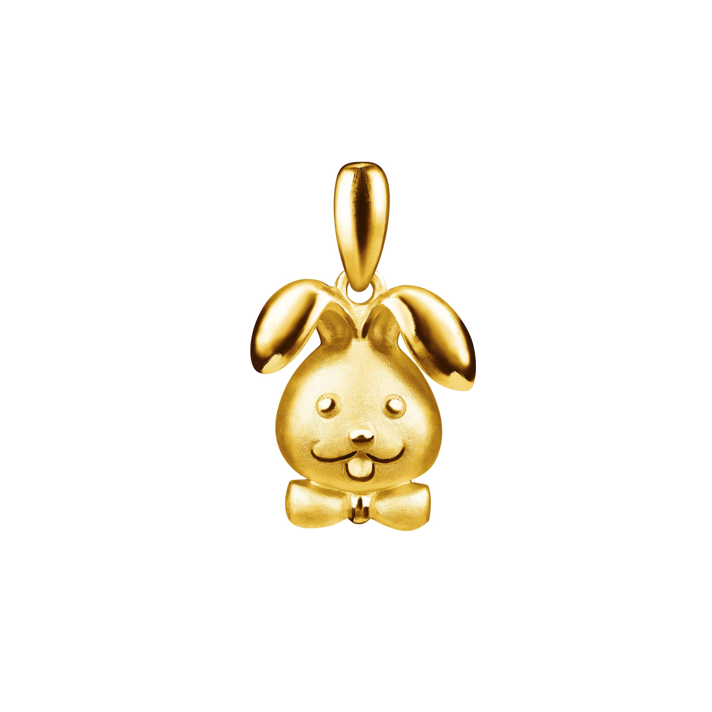 12 Chinese Zodiac Gold Pendant -Rabbit