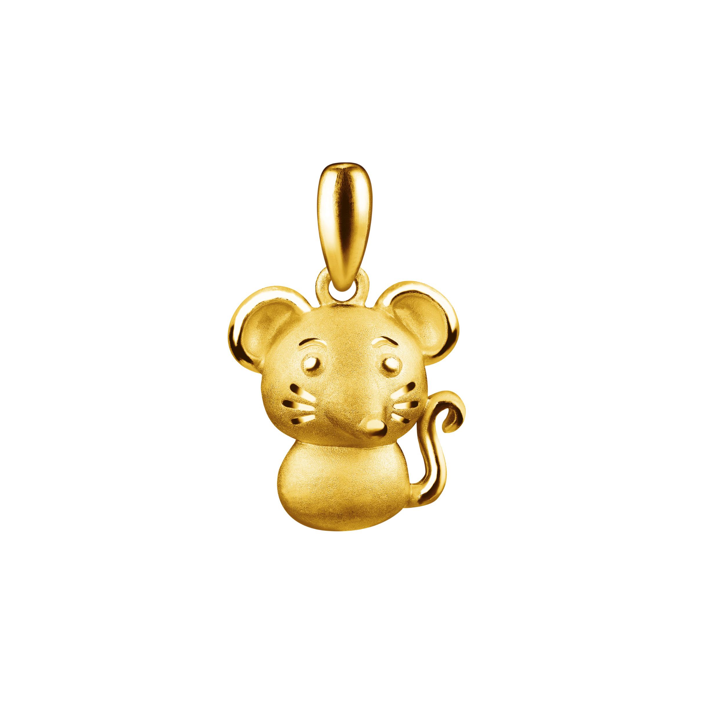 12 Chinese Zodiac Gold Pendant- Rat