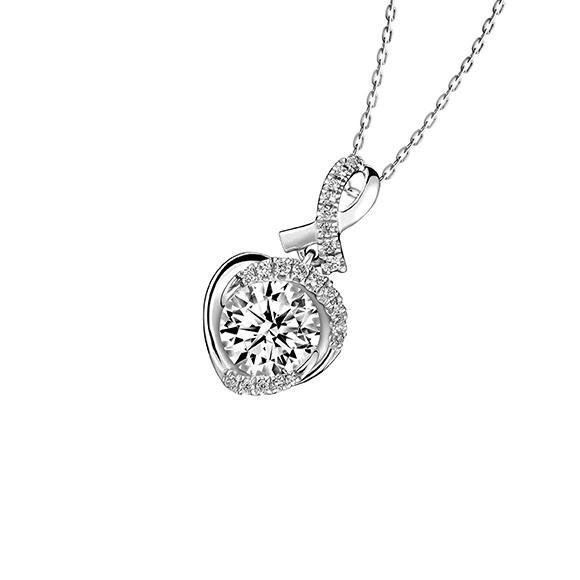 爱很美系列18K金(白色)钻石吊坠