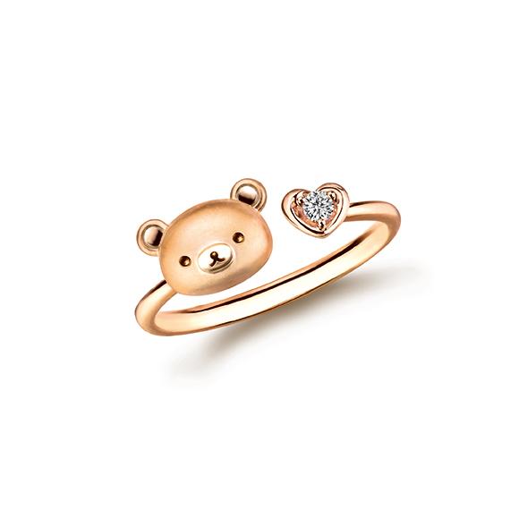 Rilakkuma™ Collection Rilakkuma™& Heart 18K Red Gold Diamond Ring