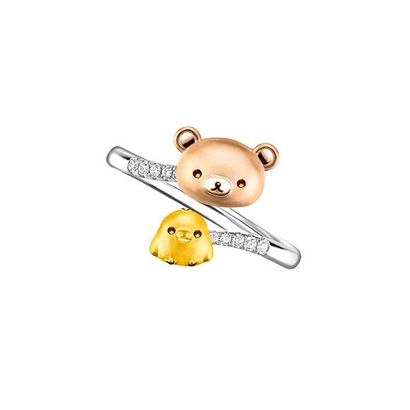 轻松小熊™系列「轻松小熊™」缀小鸡18K金钻石戒指