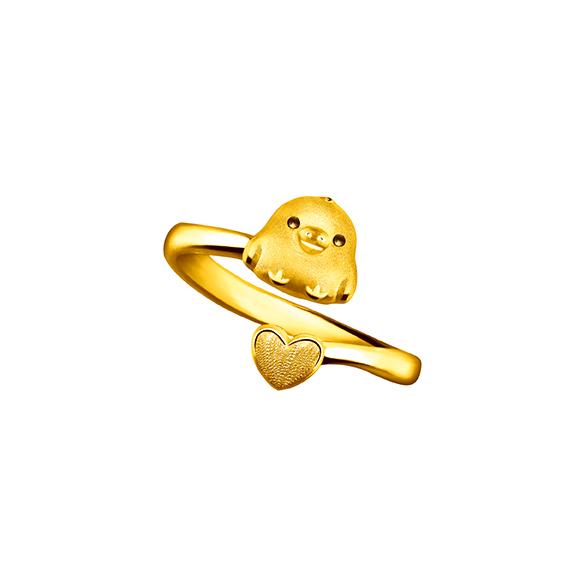 Rilakkuma™ Collection Kiiroitori& Heart Gold Ring