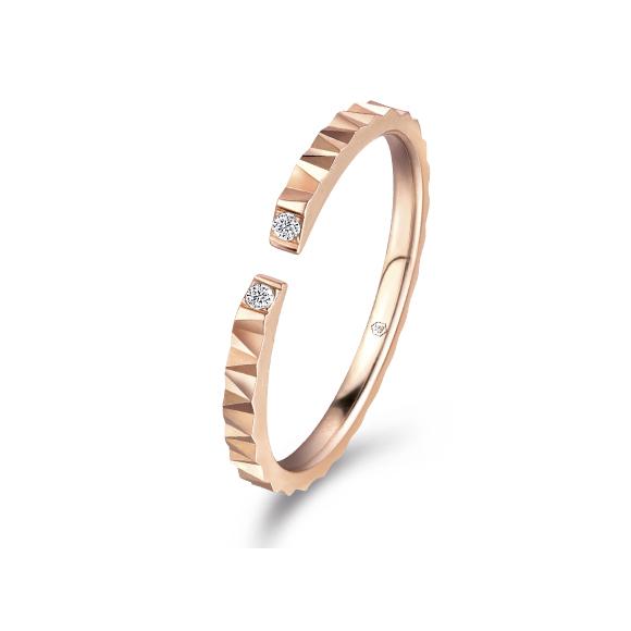 爱很美系列18K金(红色)钻石戒指