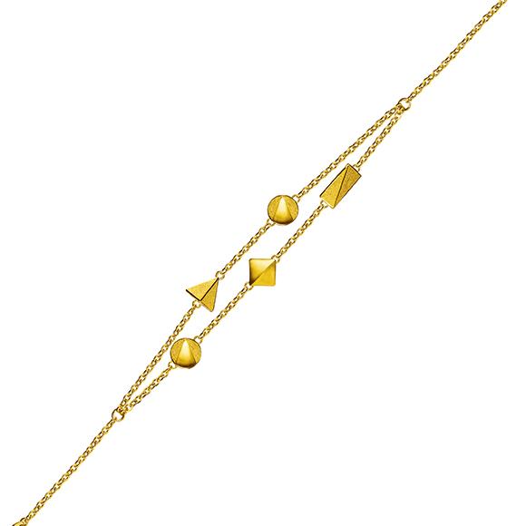 Geometric Gold Bracelets