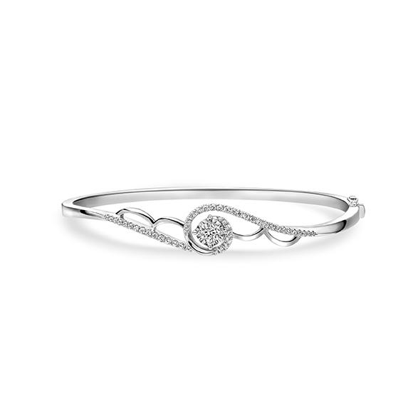 婚嫁系列18K金(白色)钻石手镯
