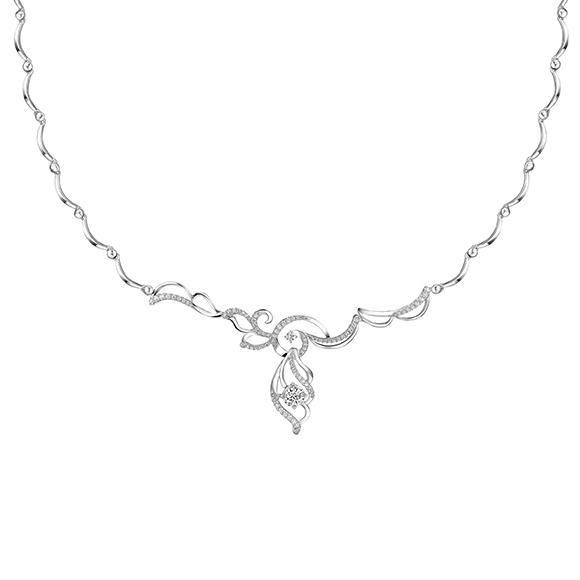 婚嫁系列18K金(白色)钻石项链
