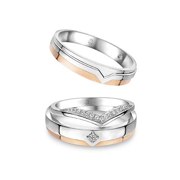 Wedding Collection 18K White Gold Diamond  Wedding Rings