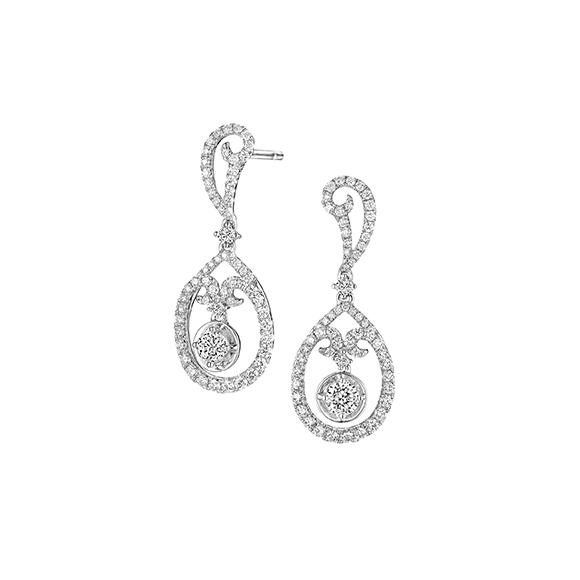 Wedding Collection 18K White Gold Diamond Earrings